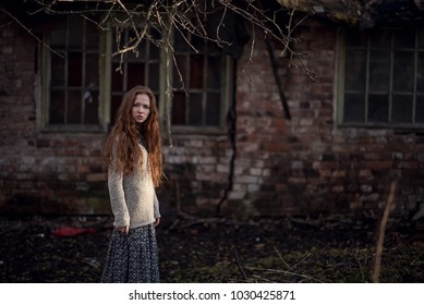 melancholia red hair girl