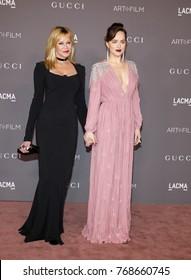Melanie Griffith and Dakota Johnson at the 2017 LACMA Art + Film Gala held at the LACMA in Los Angeles, USA on November 4, 2017.