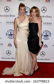 Melanie Griffith and Dakota Johnson at the 30th Carousel of Hope Ball held at the Beverly Hilton Hotel in Beverly Hills, California, United States on October 25, 2008.