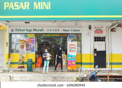 Melati - April 6 2020 : Malaysian people were buying goods at the grocery store Speed Mart at Melati in Kuala Lumpur Malaysia