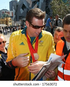 MELBOURNE 17 SEPTEMBER: Grant Hackett at the 2008 Olympic Homecoming Parade