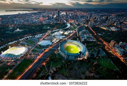 Melbourne Aerial Skyline