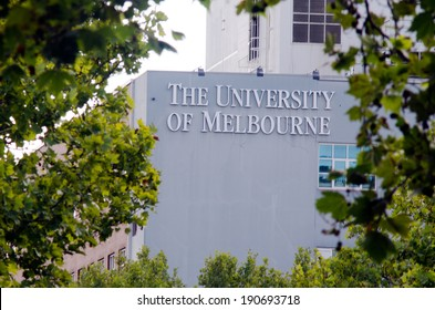 MELBOURNE - APR 14, 2014:The faced of University of Melbourne.Four Australian prime ministers,five governors-general, seven Nobel laureates have been students, faculty and graduated from Melbourne.