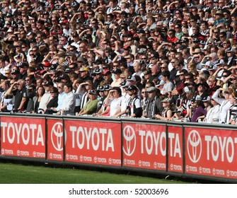 MELBOURNE - APRIL 25: Crowd at the MCG during Collingwood's massive win over Essendon - April 25, 2010 in Melbourne, Australia.