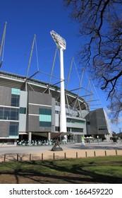 MELBOURNE - August 11:MCG Melbourne Cricket Ground - August 11,2013 Melbourne in Australia. Melbourne Cricket Ground also know as MCG hosts AFL Ground final game.