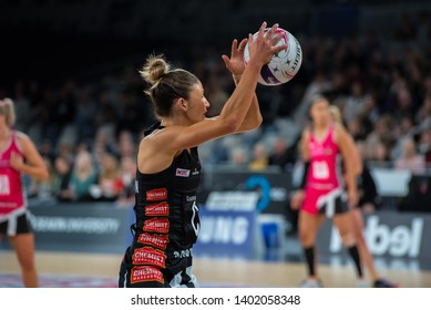 MELBOURNE, AUSTRALIA -17 MAY, 2019: Suncorp Super Netball, Melbourne 2019, Week 4, Collingwood Magpies Netball VS Adelaide Thunderbirds.