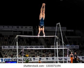 92108a6972c2 MELBOURNE, AUSTRALIA - 21-24 FEBRUARY, 2019: World Cup Gymnastics, Melbourne