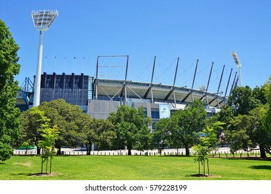 MELBOURNE, AUSTRALIA -7 DEC 2016- The Melbourne Cricket Ground (MCG), located in Yarra Park in Melbourne, is a large sports stadium home to the Melbourne Cricket Club and the National Sports Museum.