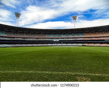 Melbourne, Australia - 7th September, 2017: View of the Melbourne Cricket Ground (MCG) and its vast empty stands