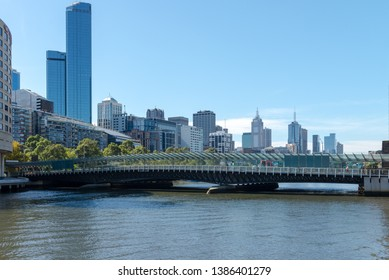 Melbourne, Australia - April 10, 2019: Aerial view of Melbourne Train Station. It has been ranked as one of the most livable cities in the world.