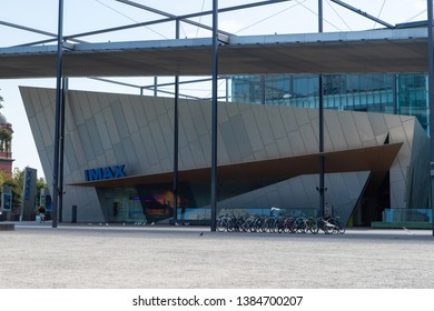 Melbourne, Australia - April 15, 2019: Front view of IMAX theatre at Melbourne Museum.