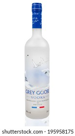 MELBOURNE, AUSTRALIA - APRIL 6,2014: Grey Goose vodka bottle. Grey Goose is a premium vodka brand produced in France