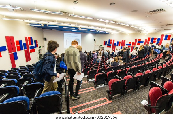 Melbourne, Australia - August 2, 2015: humanities lecture theatre in the Rotunda building at the Clayton campus of Monash University, one of Australia's top public universities.