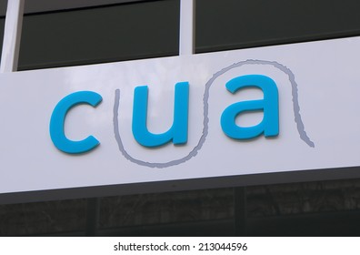 MELBOURNE AUSTRALIA - AUGUST 23, 2014: CUA Credit Union Australia - CUA is a credit Union in Australia and is the largest customer-owned financial institution in Australia.