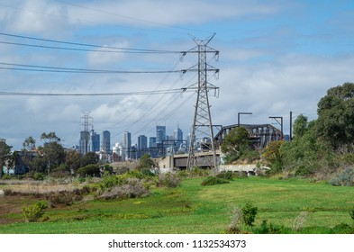Melbourne, Australia - August 30, 2015: Newells Paddock Wetlands Reserve is an urban park by the banks of the Maribyrnong River in the inner western suburb of Footscray.