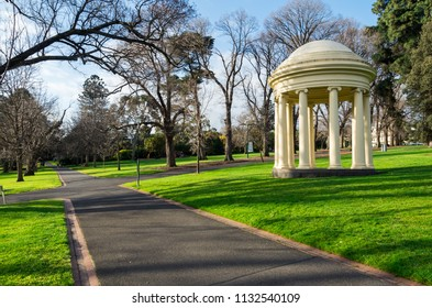 Melbourne, Australia - August 30, 2015: Temple of the Winds in the Fitzroy Gardens public park in East Melbourne was constructed in 1873.
