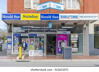 Melbourne, Australia - August 30, 2015: General store in Melbourne during daytime.