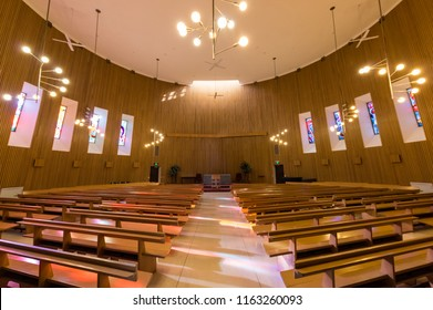 Melbourne, Australia - August 5, 2018: The Religious Centre at the Monash University Clayton campus is a multi-faith centre suitable. Its main chapel has a capacity of 450.