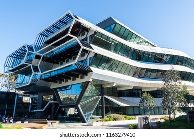 Melbourne, Australia - August 5, 2018: Green Chemical Futures was completed in 2015 as an academic and research facility to boost Australia's environmental science and green workforce capacity.