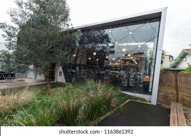 Melbourne, Australia - August 8, 2015: East Melbourne Library in George Street is Australia's most ecologically sustainable public library.