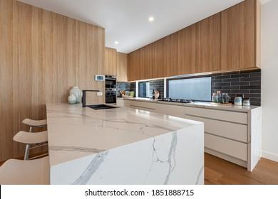 Melbourne, Australia - Circa October, 2020: Beautiful modern kitchen design