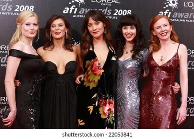 MELBOURNE, AUSTRALIA, DECEMBER 06 - L'Oreal Paris 2008 AFI Awards red carpet arrivals at the Princess Theatre - Madeleine West, Dianna Glen, Peta Sergeant, Kestie Morrassi and Alison Whyte