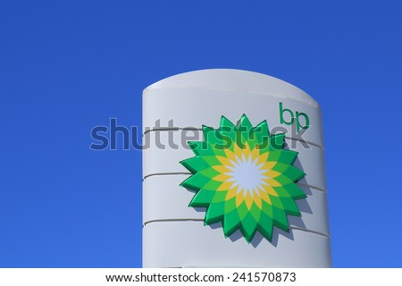 MELBOURNE AUSTRALIA - DECEMBER 13, 2014: BP - BP is a British multinational oil and gas company headquartered in London and is the sixth-largest energy company by market capitalization.