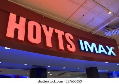 MELBOURNE AUSTRALIA - DECEMBER 26, 2015: Hoyts Imax movie cinema. Hoyts is the second largest cinema group in Australia.