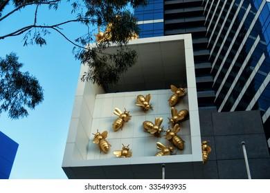MELBOURNE, AUSTRALIA - DECEMBER 29, 2014: Eureka Tower, Melbourne, Victoria, Australia