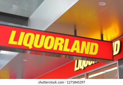 MELBOURNE AUSTRALIA - DECEMBER 4, 2018: Liquorland liquor shop in Australia. Liquorland is Australian liquor chain part of the Coles Group.