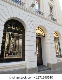 MELBOURNE AUSTRALIA - DECEMBER 4, 2018: Chanel store in Melbourne Australia
