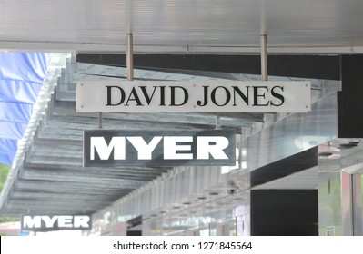 MELBOURNE AUSTRALIA - DECEMBER 4, 2018: David Jones Myer  department store in Melbourne Australia