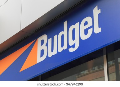 MELBOURNE AUSTRALIA - DECEMBER 5, 2015: Budget car rental. Budget is an American car rental company founded in 1958 in Los Angeles America.