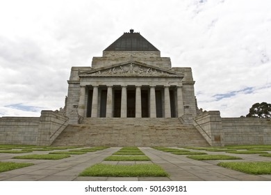MELBOURNE, AUSTRALIA - DECEMBER 5th, 2009: The Shrine of Remembrance in Melbourne, Victoria, Australia. A historic memorial landmark to Australians who served their country.