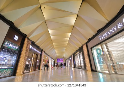 MELBOURNE AUSTRALIA - DECEMBER 9, 2018: Unidentified people shop at tax free shops at Melbourne International airport in Melbourne Australia.