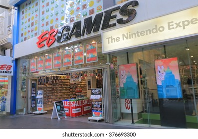 MELBOURNE AUSTRALIA - FEBRUARY 13, 2016:EB Games shop. EB Games is an American computer and vide games retailer established i 1977.