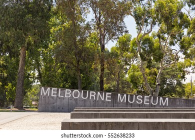 Melbourne, Australia - February 2015: Royal Exhibition Building behind Carlton Gardens in Melbourne, Victoria, Australia. First building in Australia to be awarded UNESCO world heritage status.