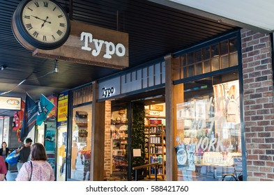 Melbourne, Australia - February 23, 2017: Typo is an Australian chain of stationery stores, including this store on Elizabeth Street in central Melbourne. It is part of the Cotton On group.