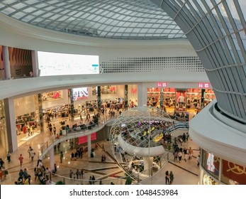 Melbourne, Australia - February 24, 2018: atrium at Chadstone Shopping Centre opened in October 2016. Chadstone is the largest shopping mall in the southern hemisphere.