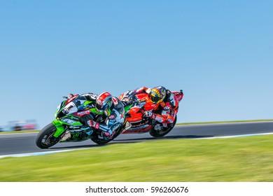 MELBOURNE, AUSTRALIA - FEBRUARY 26: Jonathan Rea #1 (GBR) during the 2017 MOTUL FIM World Superbike Championship, Australia on February 26 2017. Photo: Dave Hewison