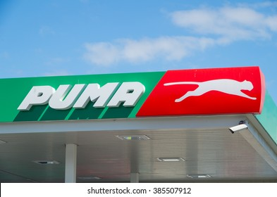 Melbourne, Australia - February 28, 2016: Puma Energy is a Singapore based petroleum company with more than 1850 service stations worldwide, including this site in Springvale in suburban Melbourne.