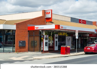 Melbourne, Australia - February 28, 2016: Westpac Banking Corporation is the second largest bank in both Australia and New Zealand. This is the Springvale branch in Melbourne.