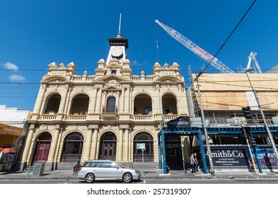 MELBOURNE, AUSTRALIA - February 8, 2015: old Collingwood post office in Smith Street, Collingwood.  Smith Street is a major shopping street in this inner city working class suburb.
