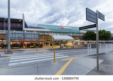 Melbourne, Australia - Jan 18 2019: Melbourne Airport or Tullamarine Airport, is the primary airport serving the city of Melbourne, and the second busiest airport in Australia.