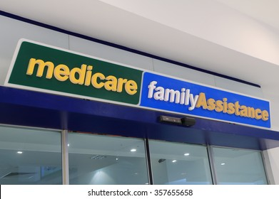 MELBOURNE AUSTRALIA - JANUARY 1, 2016: Medicare Department of Human Services Australia. Medicare provides access to medical and hospital services for all Australian residents.