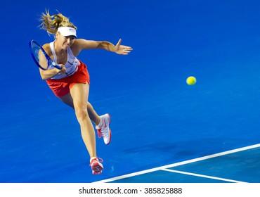 MELBOURNE, AUSTRALIA - JANUARY 14 : Maria Sharapova practices at the 2016 Australian Open