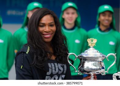 MELBOURNE, AUSTRALIA - JANUARY 15 : Serena Williams at the 2016 Australian Open draw ceremony