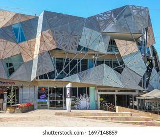 MELBOURNE, AUSTRALIA - JANUARY 21, 2019: Yarra Building at the Federation Square  in Melbourne, Australia