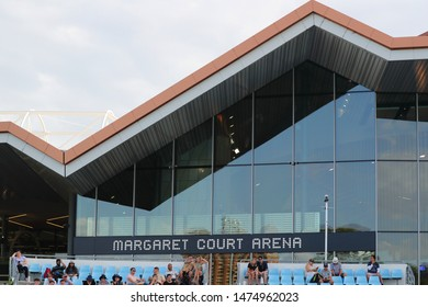 MELBOURNE, AUSTRALIA - JANUARY 22, 2019: Margaret Court arena during 2019 Australian Open at Australian tennis center in Melbourne Park