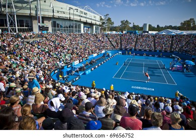 MELBOURNE, AUSTRALIA - JANUARY 22:  Margaret Court Arena next to the Rod Laver Arena which holds the center court at the Australian Open, January 22, 2011 in Melbourne, Australia